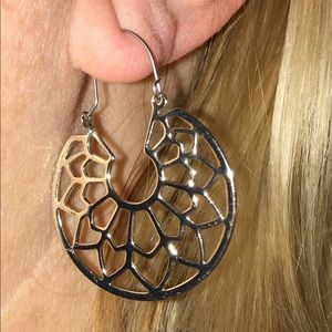 Jewelry - Silver Boho/Lotus/Mandala Earrings